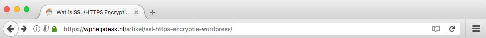 Firefox adresbalk geladen over SSL