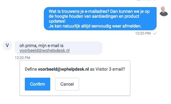 chat toevoegen aan contacten